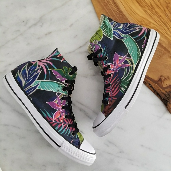 10933bd3b0968a Converse Other - CONVERSE All Star Sneakers High Top Tropical Print